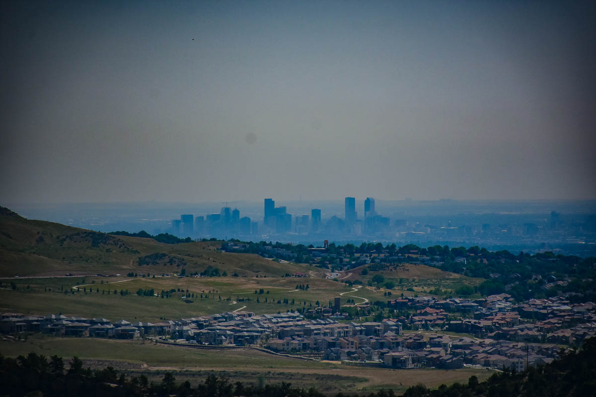 View of downtown Denver from Red Rocks