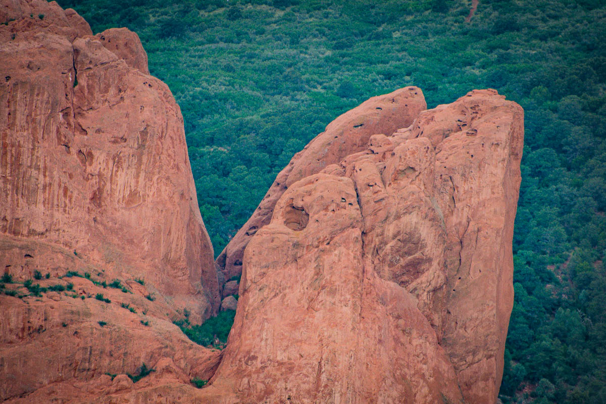 Rock formation at Garden of the Gods.