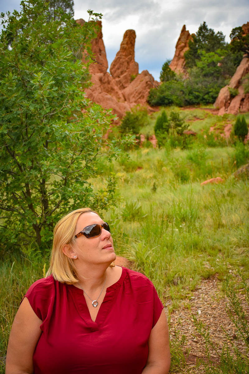 Crystal on hike in Garden of the Gods.