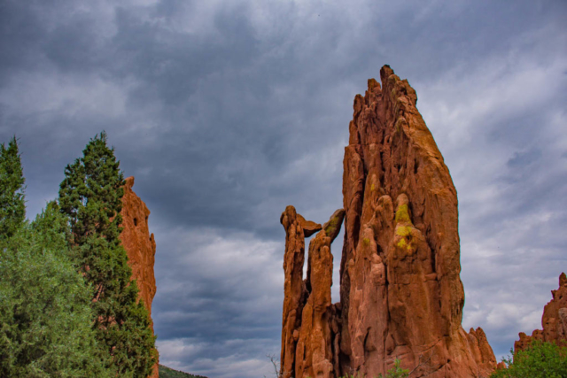 Garden of the Gods rock formation.