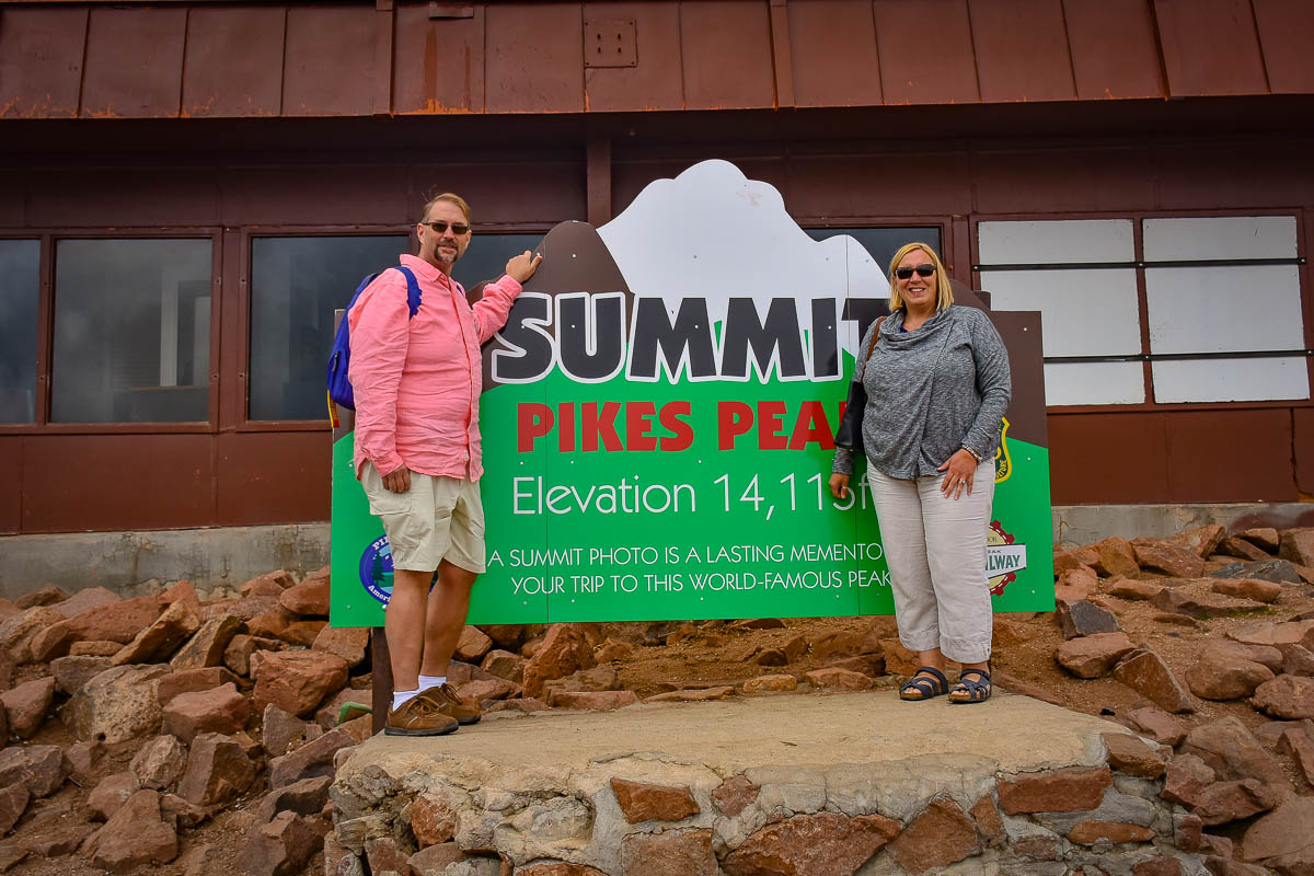 Ben and Crystal at the top of Pikes Peak