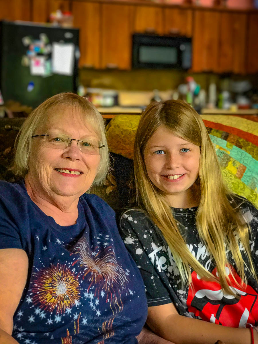 Nora and Grandma Ellen at the Jebel