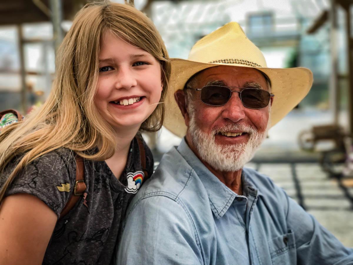 Nora with Grandpa Art