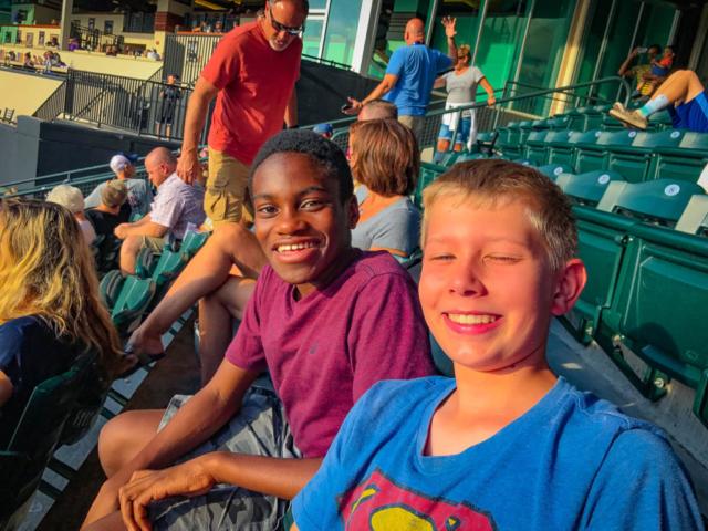 Kai and Kevin at the Rockies game