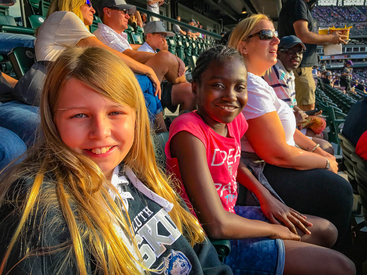At the Rockies game with the Otoos