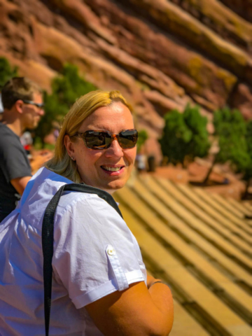 Crystal at the Red Rocks amphitheater