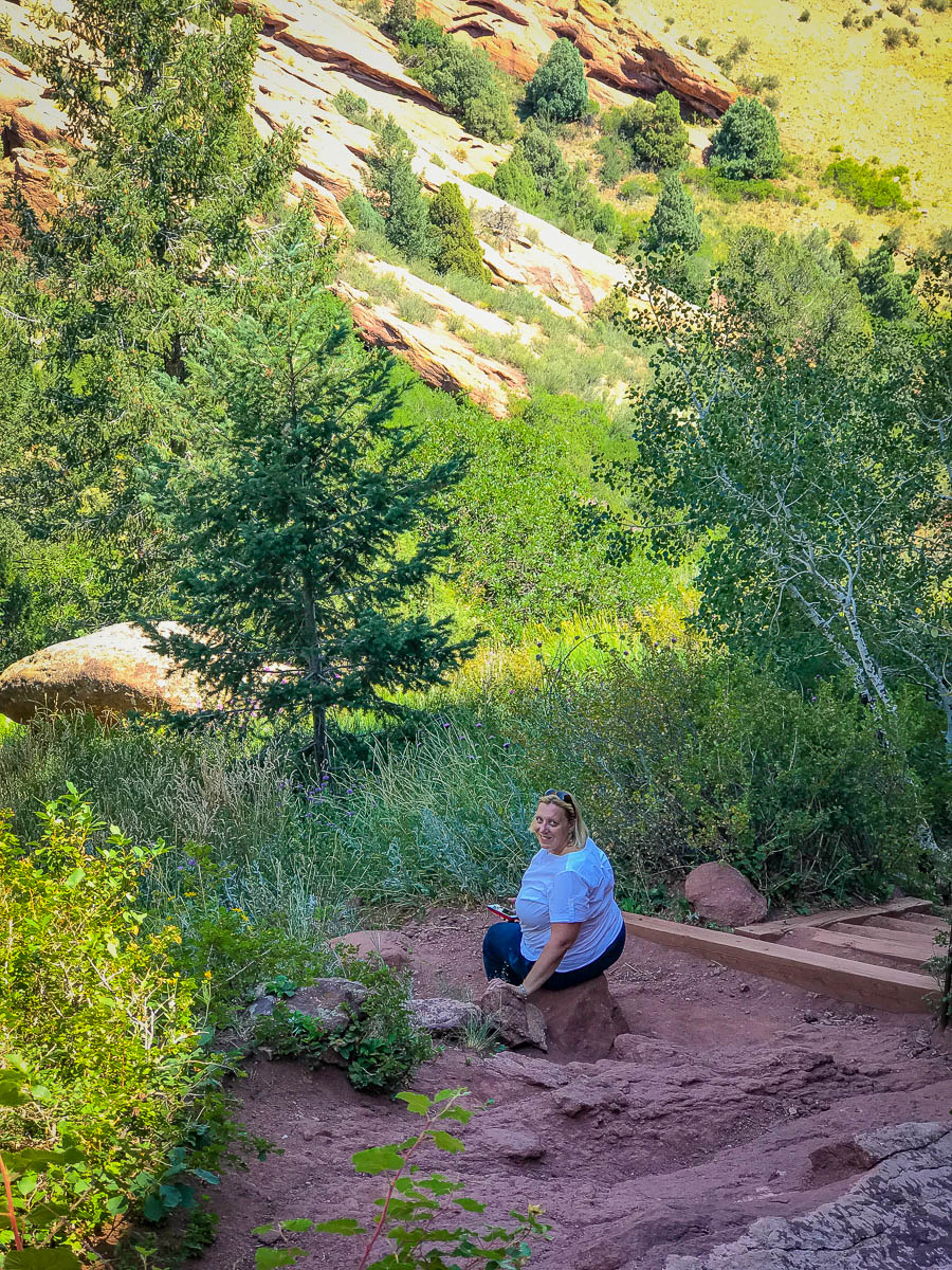 Nature walk in Red Rocks park