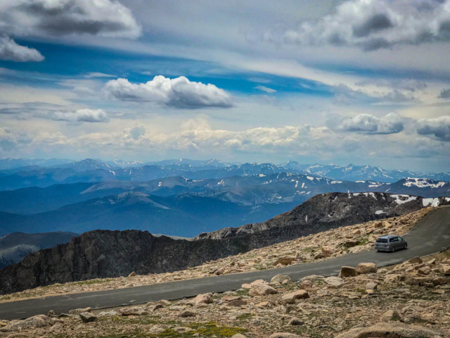 View west from the top of Mt. Evans.