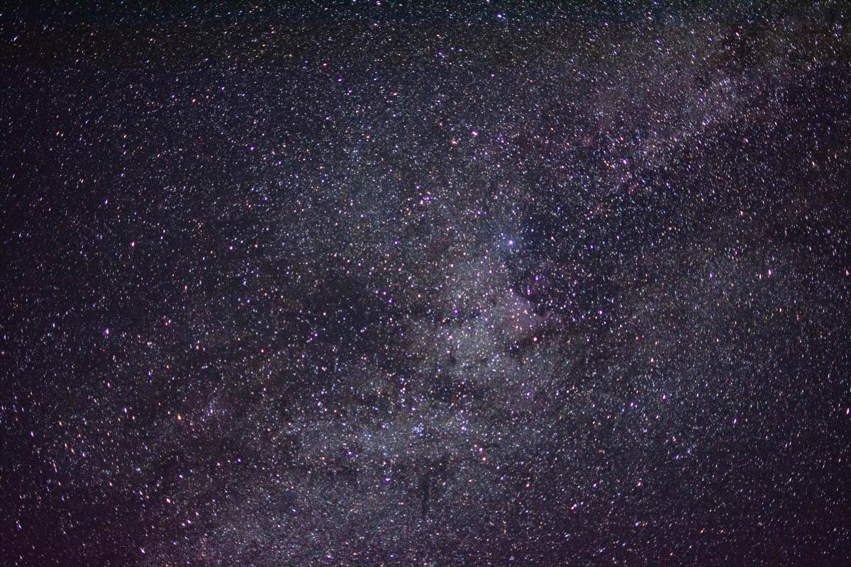 Milky way over Bass Lake