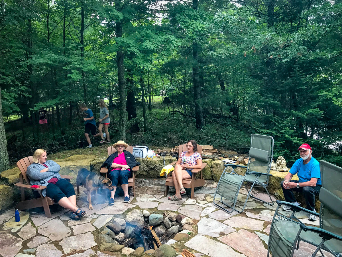 Family time at the fire pit